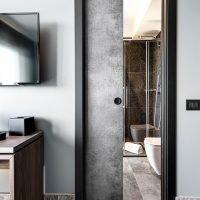 Porta per bagno scorrevole interno muro