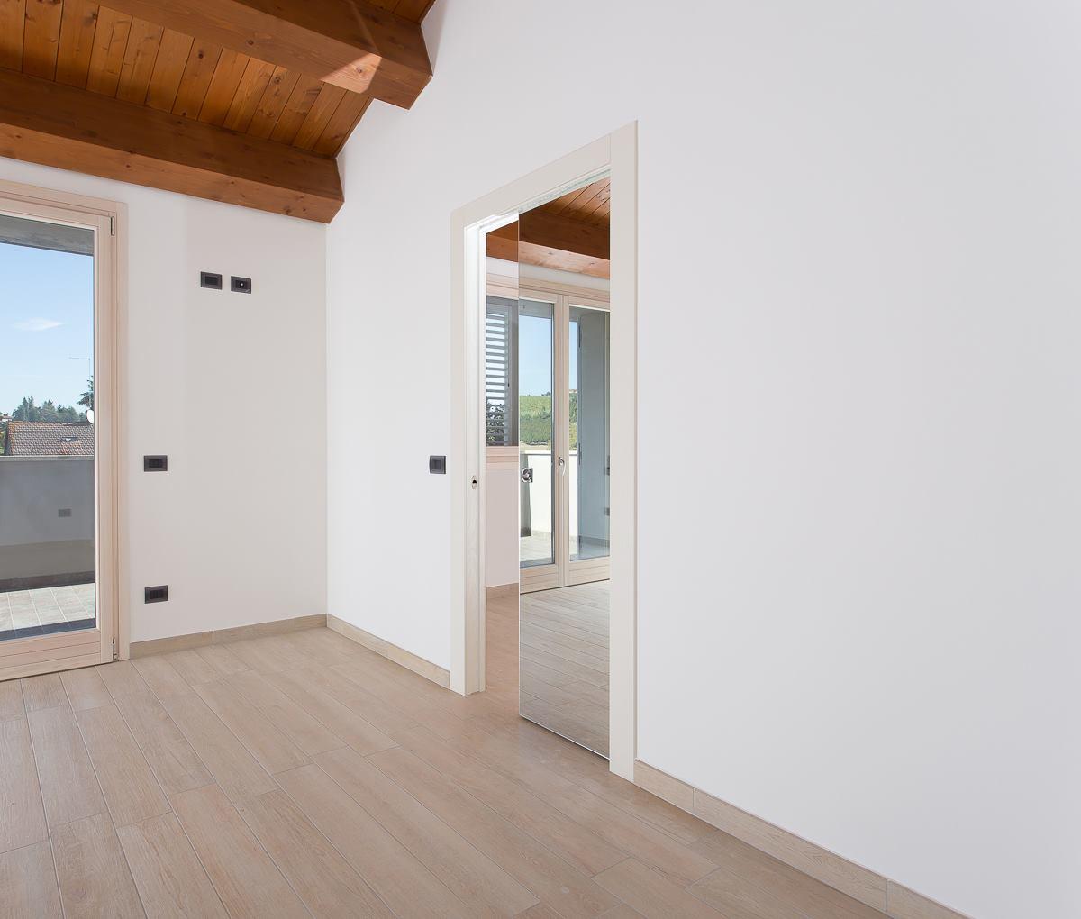 Porta Scorrevole A Specchio. Elegant Porte In Laminato Olmo Grigio A ...