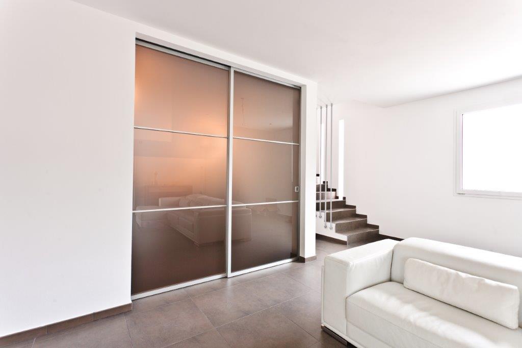 Realizzazioni porte da interno sis produzione porte - Porta scorrevole alluminio ...